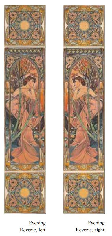 Alphonse Mucha Evening Reverie Tile set