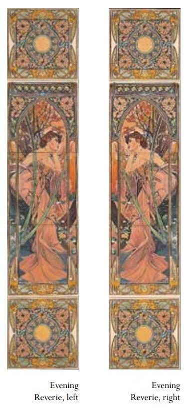Alphonse Mucha Evening Reverie Tile set