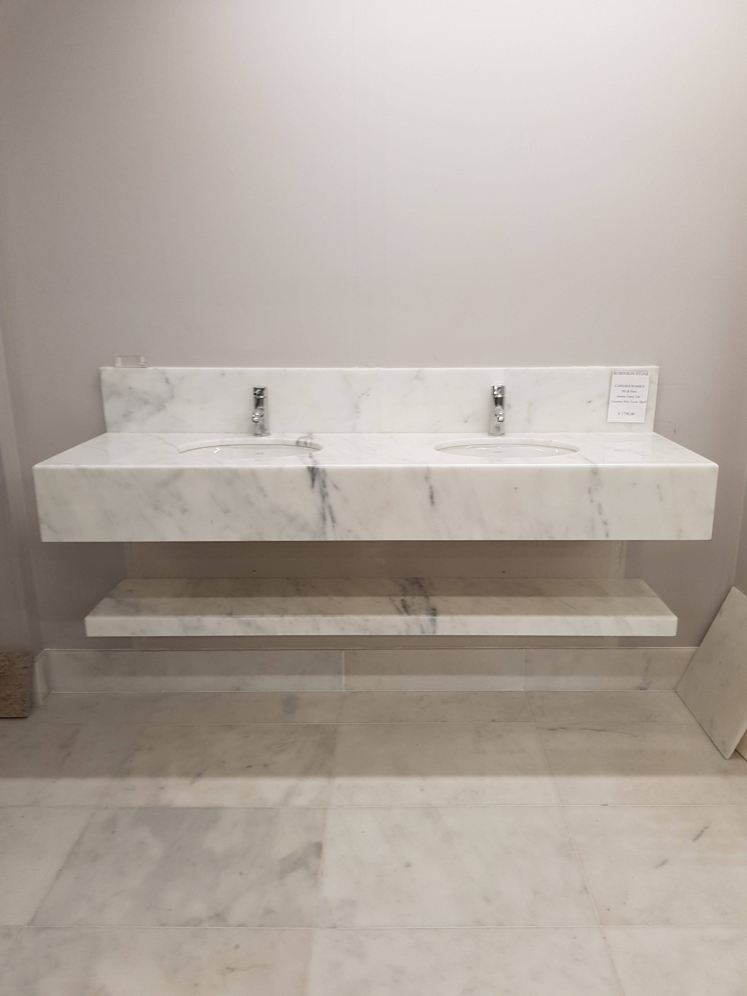 His And Hers Vanity Top Robinson Stone